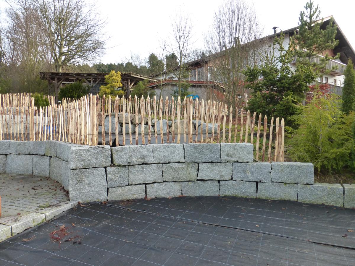 Natursteinmauer Granitmauer Trockenmauer Garten Premm Roding